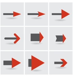 stylized arrows vector image vector image