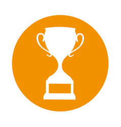 Trophy cup award icon vector