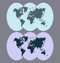 World of dots vector image