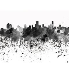 Bogota skyline in black watercolor on white vector