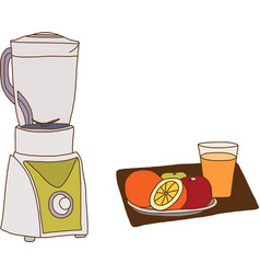 The electric blender for make fruit juice vector