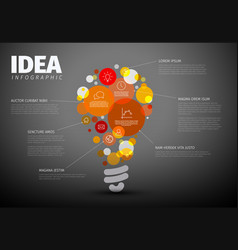 Idea infographic template vector