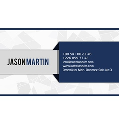 Blue corporate business card vector image