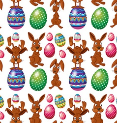 An easter seamless design vector