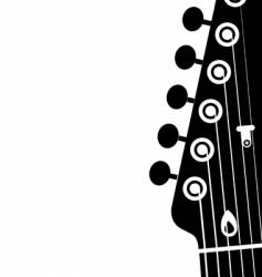 guitar head vector image