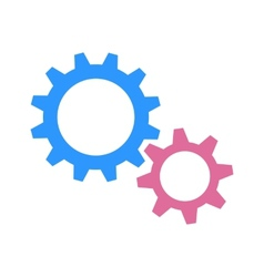 Gearwheels as man and woman vector