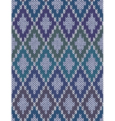Color knitted wool gingham squares vector