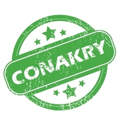 Conakry green stamp vector