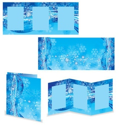Christmas booklet or folder image vector