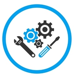 Mechanics tools rounded icon vector