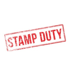 Stamp duty red rubber stamp on white vector