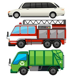Three kind of transportations vector image