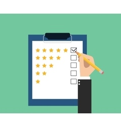 Customer service rating vector
