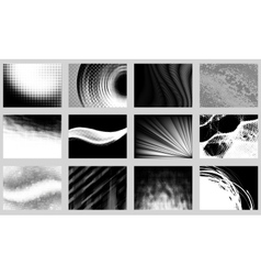Monochrome backgrounds vector