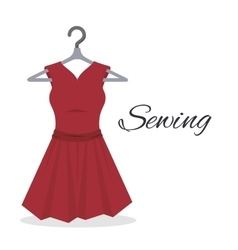 Sewing garments isolated icon design vector