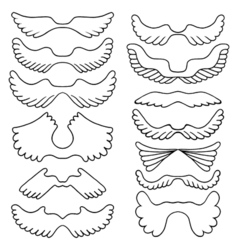 Big set sketches of wings vector