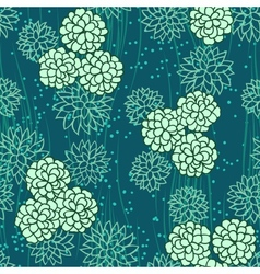 abstract flowers floral green seamless background vector image