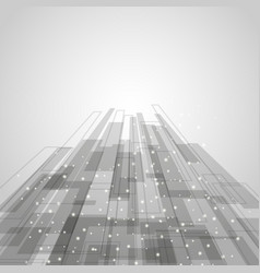 Abstract gray rectangles technology background vector