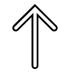 Arrow up thin line icon vector