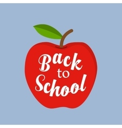 back to school message in red apple vector image vector image
