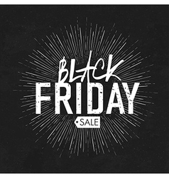 black friday vintage rays vector image vector image