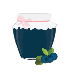 Blueberry jam vector