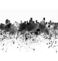 Bogota skyline in black watercolor on white vector