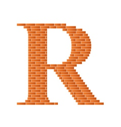 brick letter vector image vector image