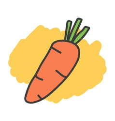 Cartoon doodle carrot vector