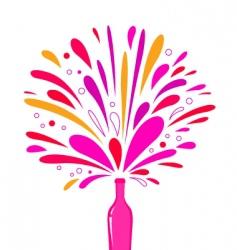 champagne bottle splash vector image vector image