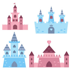 Collection of medieval castles collection of vector