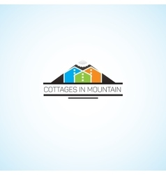 Cottages in mountain vector image vector image