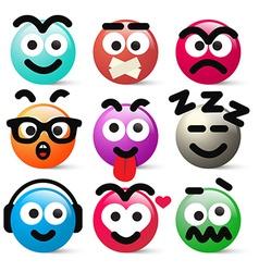 Crazy circle avatar faces vector