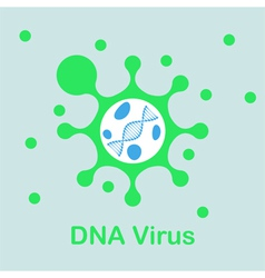 DNA virus icon vector image vector image