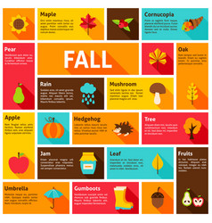 Fall infographic concept vector