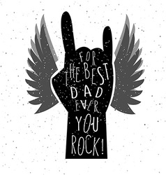 Fathers day card the best dad ever lettering vector
