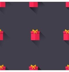 Gifts on adark violet background vector image