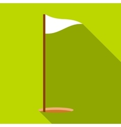 Golf flag icon flat style vector