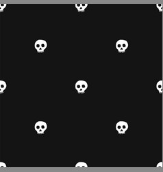 hand drawn skull seamless pattern vector image vector image