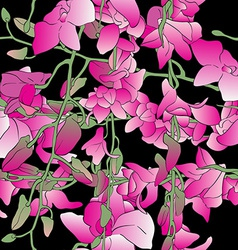 long orchids tile vector image vector image