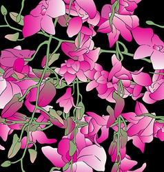 long orchids tile vector image