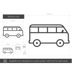 Minivan line icon vector