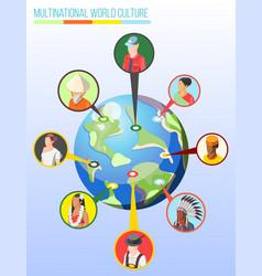 Multinational world culture design concept vector