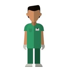 Nurse male suit surgeon hospital vector