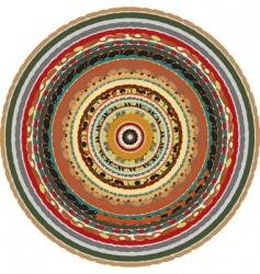 oriental circular background vector image vector image