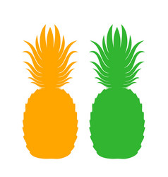 Pineapple icon isolated pineapples on white vector