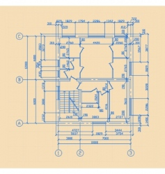 plan of house vector image