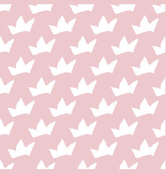 Print seamless pattern with crowns seamless vector
