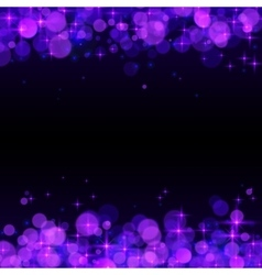 Purple shining bokeh frame abstract background vector