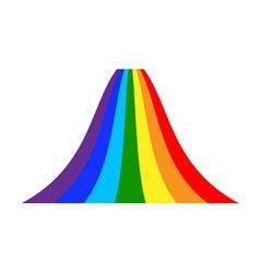 Rainbow icon cartoon 7 vector image vector image